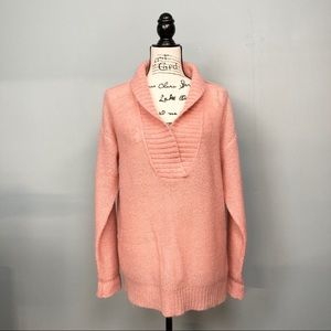J. Crew Dolce Shawl Peach Popover Mohair Sweater